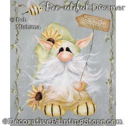 Bee-utiful Dreamer (Gnome) Painting Pattern PDF DOWNLOAD - Deb Mishima