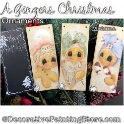 A Gingers Christmas Ornament Trio Painting Pattern PDF DOWNLOAD - Deb Mishima