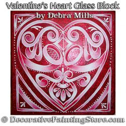Valentine Heart Glass Block e-Pattern - Debra Mills - PDF DOWNLOAD