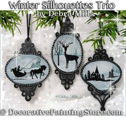 Winter Silhouette Ornaments e-Pattern - Debra Mills - PDF DOWNLOAD