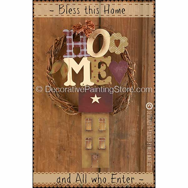 Bless This Home Pattern - Mila Marchetti - PDF DOWNLOAD