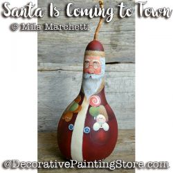 Santa Is Coming to Town Gourd ePattern - Mila Marchetti - PDF DOWNLOAD