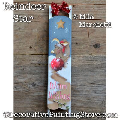 Reindeer Star Sled DOWNLOAD - Mila Marchetti