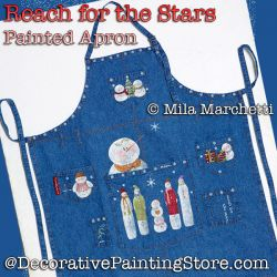 Reach for the Stars Snowman Apron DOWNLOAD Painting Pattern - Mila Marchetti