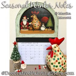 Seasonal Notes Winter Painting Pattern PDF DOWNLOAD - Marika Moretti