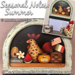 Seasonal Notes Summer Painting Pattern PDF DOWNLOAD - Marika Moretti