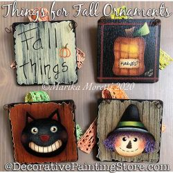 Things for Fall Ornaments Painting Pattern PDF DOWNLOAD - Marika Moretti