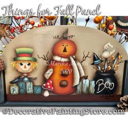Things for Fall Plaque Painting Pattern PDF DOWNLOAD - Marika Moretti