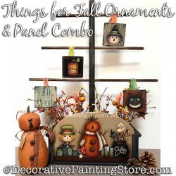 Combo-Things for Fall Plaque and Ornaments Painting Pattern PDF DOWNLOAD - Marika Moretti