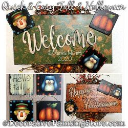 Quick and Easy Fall or Halloween Signs / Ornaments Painting Pattern PDF DOWNLOAD - Marika Moretti