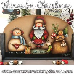 Things for Christmas Plaque Painting Pattern PDF DOWNLOAD - Marika Moretti