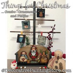 Combo-Things for Christmas Plaque and Ornaments Painting Pattern PDF DOWNLOAD - Marika Moretti