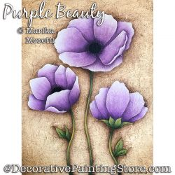 Purple Beauty (Poppy) Painting Pattern PDF DOWNLOAD - Marika Moretti