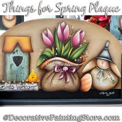 Things for Spring Plaque Painting Pattern PDF DOWNLOAD - Marika Moretti