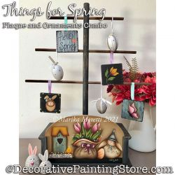 Combo-Things for Spring Plaque and Ornaments Painting Pattern PDF DOWNLOAD - Marika Moretti
