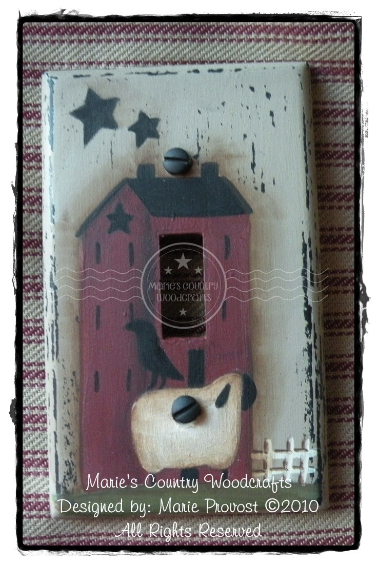 Saltbox Light Switch Cover ePattern PDF DOWNLOAD - Marie Provost