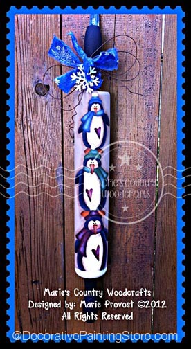 "Stack O ""Pin"" Guins Rolling Pin Pattern BY DOWNLOAD"