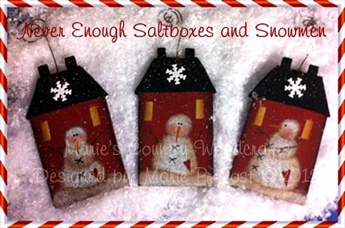 Never Enough Saltboxes and Snowmen  ePattern DOWNLOAD