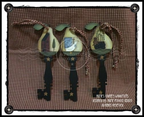Trio of Prim Pears Keys Pattern DOWNLOAD