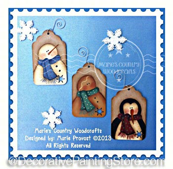 Frosty, Ginger, and Guin Gift Tags Pattern BY DOWNLOAD