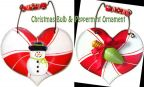 Peppermint Heart Ornaments e-Pattern DOWNLOAD