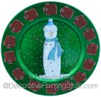 Snowman Gingerbread Plate Charger Pattern BY DOWNLOAD