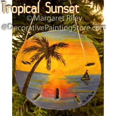 Tropical Sunset Sand Dollar Ornament DOWNLOAD