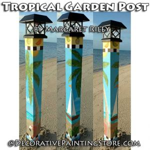 Tropical Garden Post DOWNLOAD