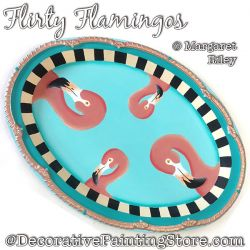 Flirty Flamingos Tray DOWNLOAD - Margaret Riley