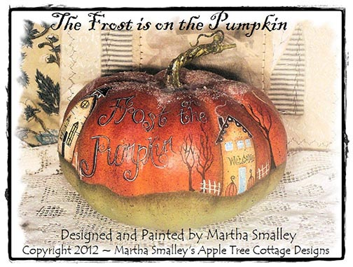 The Frost Is on the Pumpkin ePattern - Martha Smalley - PDF DOWNLOAD