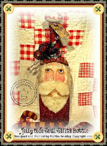 Jolly Olde Soul Santa Wine Bottle e-Pattern - Martha Smalley - PDF DOWNLOAD