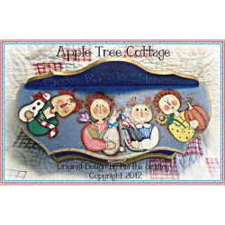 Four Seasons Raggedy Annies e-Pattern - Martha Smalley - DOWNLOAD