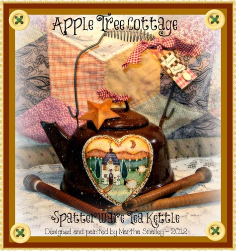 Spatterware Teakettle e-Pattern - Martha Smalley - PDF DOWNLOAD