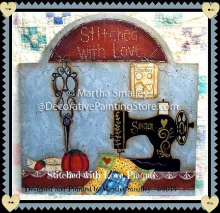 Stitched with Love Plaque Pattern - Martha Smalley - PDF DOWNLOAD