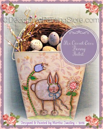 Ms. Carrot Ears Bunny Pocket ePattern - Martha Smalley - PDF DOWNLOAD