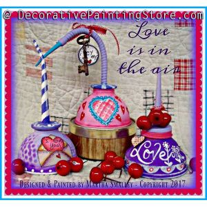 Love Is In The Air Valentine Oil Cans ePattern - Martha Smalley - PDF DOWNLOAD