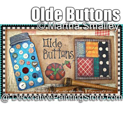 Olde Buttons ePattern - Martha Smalley - PDF DOWNLOAD