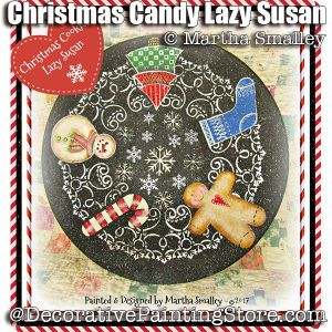 Christmas Cookie Lazy Susan ePattern - Martha Smalley - PDF DOWNLOAD