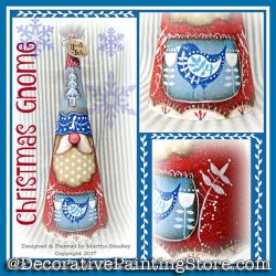 Christmas Gnome Collage ePattern - Martha Smalley - PDF DOWNLOAD