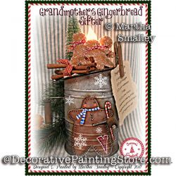 Grandmothers Gingerbread Sifter ePattern - Martha Smalley - PDF DOWNLOAD