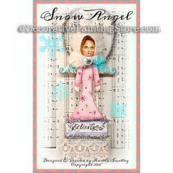 Snow Angel Paint Brush Ornament ePattern - Martha Smalley - PDF DOWNLOAD