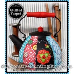 Quilted Teapot ePattern - Martha Smalley - PDF DOWNLOAD
