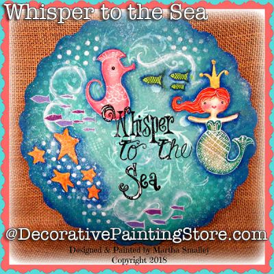 Whisper to the Sea Scalloped Plaque ePattern - Martha Smalley - PDF DOWNLOAD