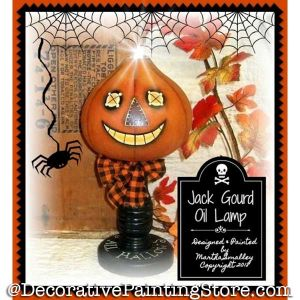 Jack Gourd Oil Lamp DOWNLOAD - Martha Smalley