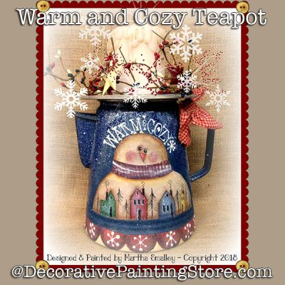 Warm and Cozy Teapot DOWNLOAD - Martha Smalley