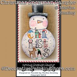 Christmas Snowman Sampler  DOWNLOAD Painting Pattern - Martha Smalley