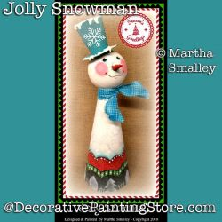 Jolly Snowman  DOWNLOAD Painting Pattern - Martha Smalley