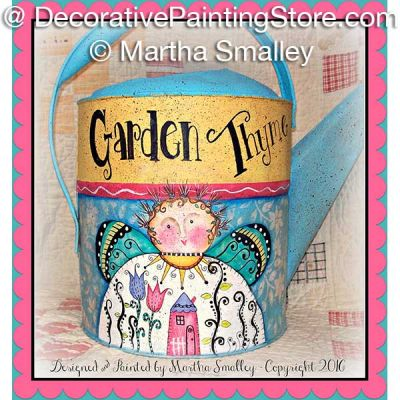 Garden Thyme Watering Can ePattern - Martha Smalley - PDF DOWNLOAD