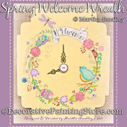 Spring Welcome Wreath DOWNLOAD Painting Pattern - Martha Smalley
