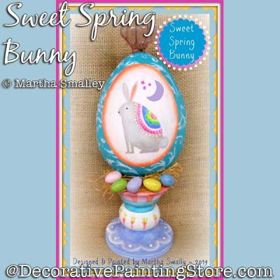 Sweet Spring Bunny DOWNLOAD Painting Pattern - Martha Smalley